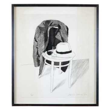 David Hockney's 1972 print, 'Panama Hat'
