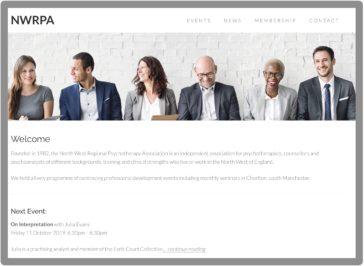 Screenshot NWRPA homepage