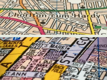 Detail of Map of Manchester