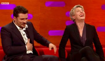BBC TV still from Graham Norton Show