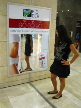 Mirror phase - advertisement with mirror