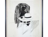 David Hockney's 1972 print, 'Panama Hat'